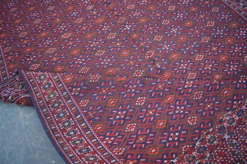 Size : 6'9 x 11'10 Feet Vintage Handmade Afghan Tribal | Etsy