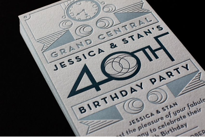 Embossed single side clean classy love this design picnics 49 stunning examples of letterpress printing photo filmwisefo