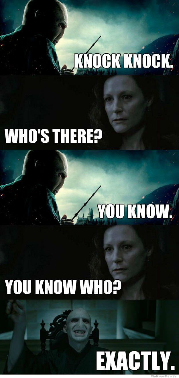 voldemort-knock-knock-joke   That's clever!   Harry potter