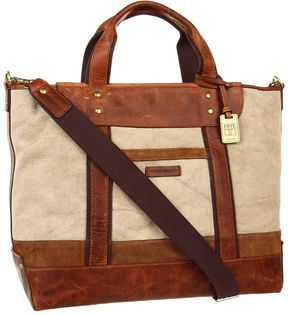 def898aa0 ShopStyle: Frye Harvey Tote (Tan Canvas/Antique Pull Up) - Bags and Luggage