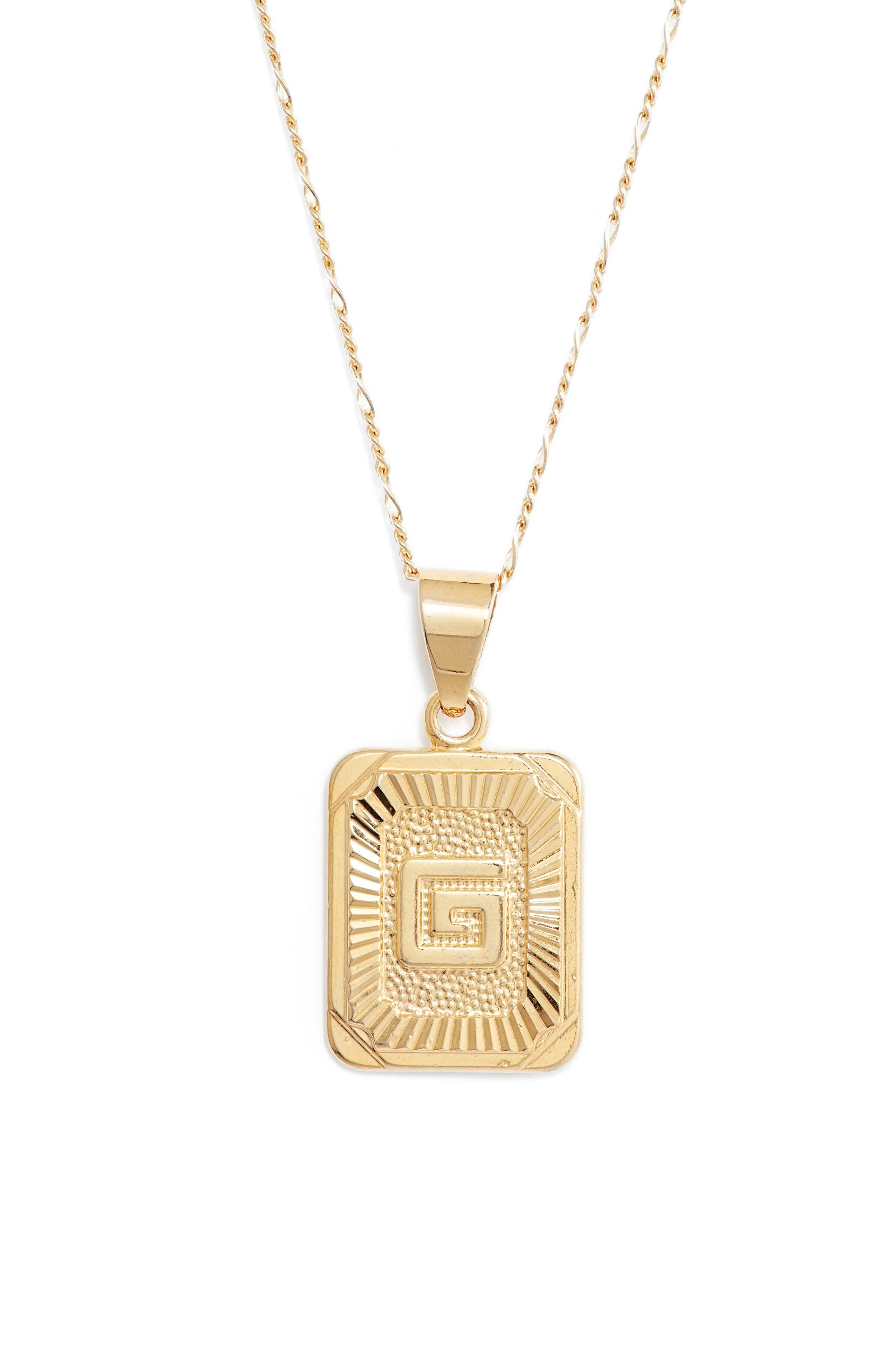 15ced7e6d Women's Bracha Initial Pendant Necklace in 2019 | Products | Initial ...