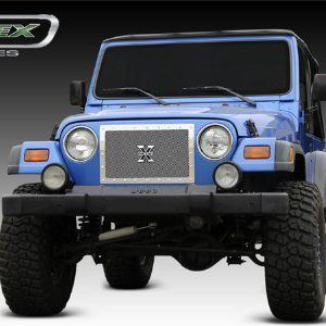 T Rex Grilles X Metal Series Studded Tj Jeep Single Piece Grille Custom Jeep Wrangler Jeep Best Jeep Wrangler