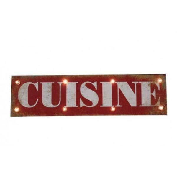 panneau lumineux cuisine cuisines pinterest panneau deco retro et industriel. Black Bedroom Furniture Sets. Home Design Ideas