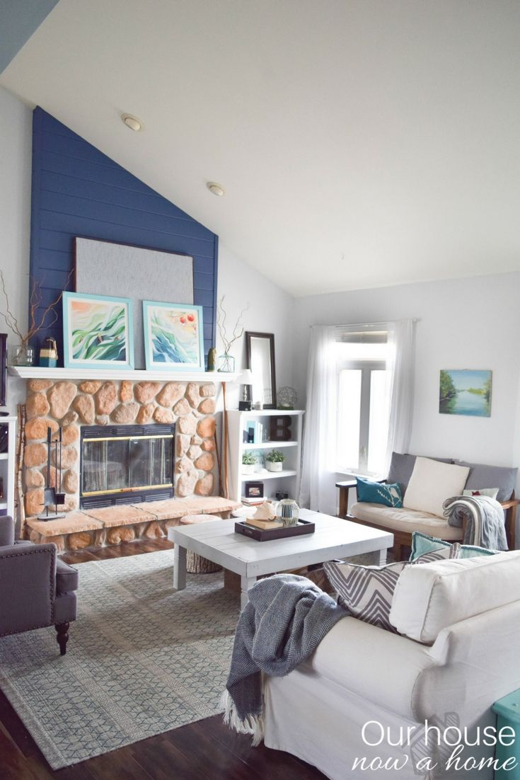 Coastal style living room decor ideas for the home. 10 living and ...