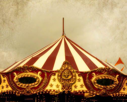 Carnival Circus Photograph - tent big top merry go round symmetry red gold. & Carnival Circus Photograph - tent big top merry go round ...