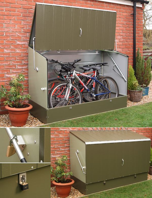 Metalstore Secure Metal Bicycle Storage Unit Could Keep Bikes Outdoors If Start Running Out Of Space Bike Storage Bicycle Storage Shed Storage