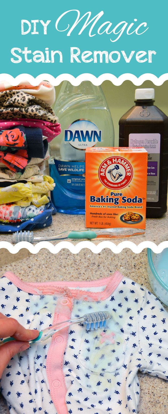 Diy Magic Stain Remover For Baby Clothes Homemade Stain Removers