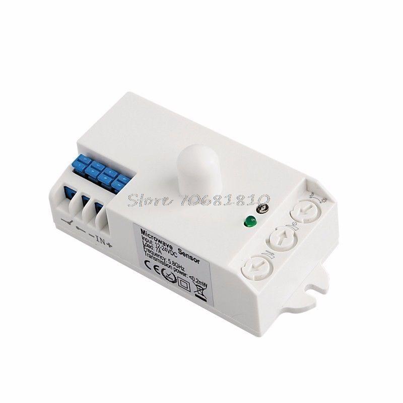 2v 24v Dc Microwave Radar Sensor Body Motion Detector Light Switch 5 8ghz Hot R179 Drop Shipping Affiliate Motion Detector Motion Sensor