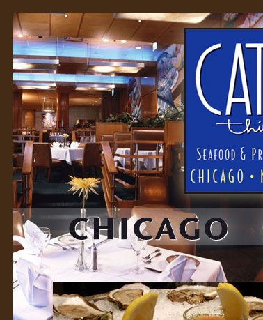 Chicago Seafood Fresh Fish Steak And Lobster From Catch 35 Downtown W Wacker Drive Il