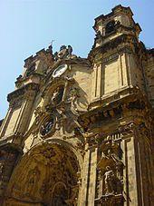 Guipuzcoa San Sebastián - Basílica de Santa María (s. XVIII), en la Parte Vieja.