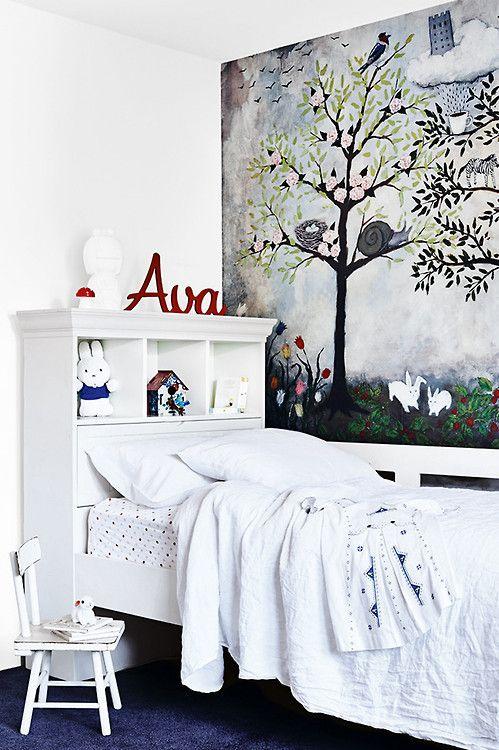 Ava's room is so cute & chic (via Homelife / ph. Derek...