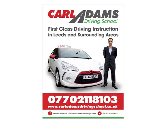 Carl Adams Driving School poster #branding #poster #driving - ba stands for