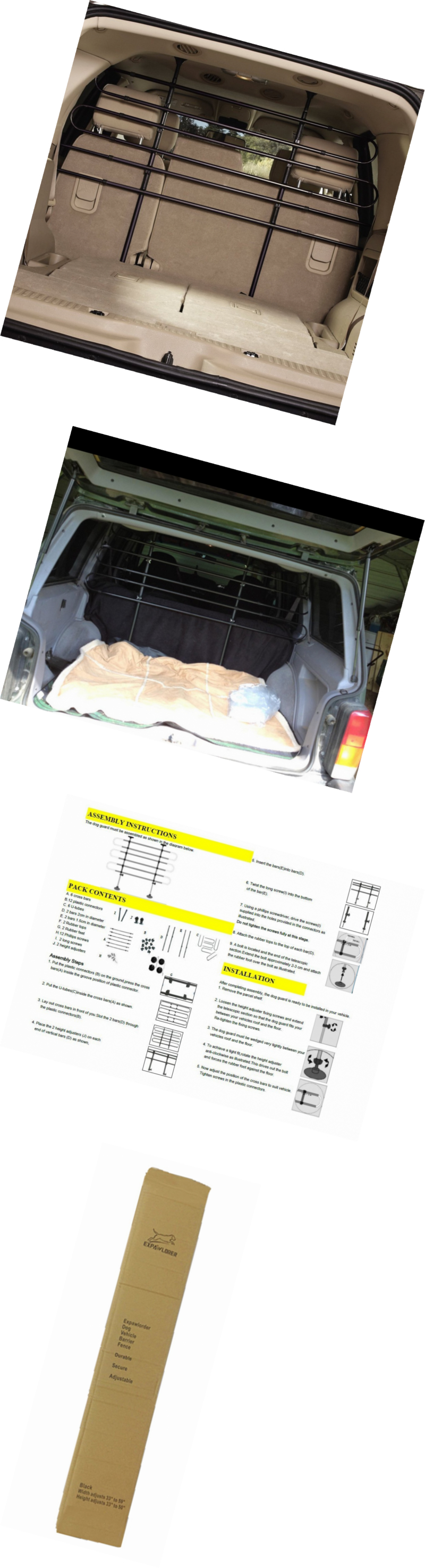 Car seats and barriers expawlorer vehicle pet barrier for suv