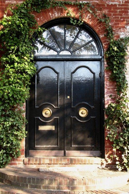 Attractive 15 Black Front Door Designs To Inspire | Shelterness