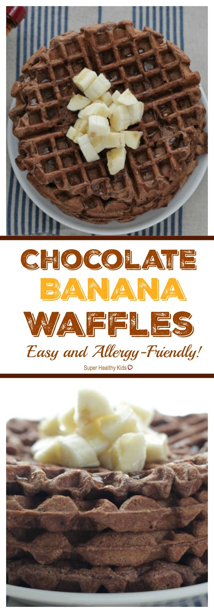 Chocolate Banana Waffles: Easy and Allergy-Friendly