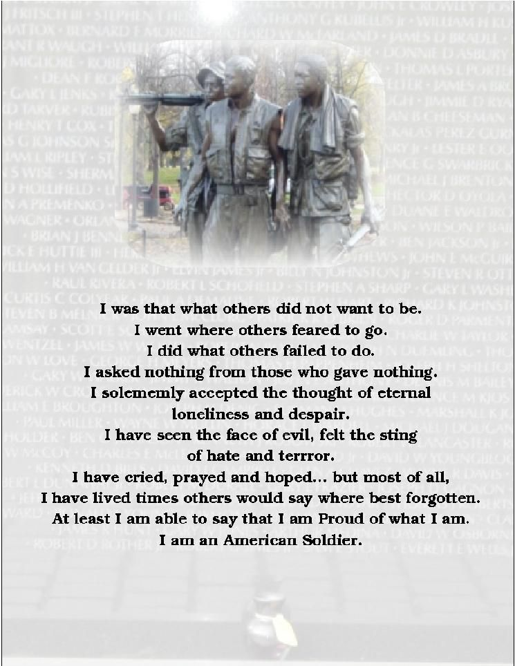 am an American soldier. / Poem | Salute Our Military | Pinterest