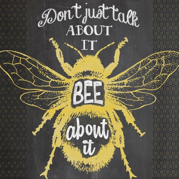 chalk bee | Buzzy Bees! | Pinterest | Bees, Honey and Beekeeping