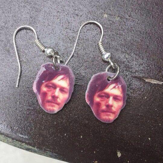 Daryl Dixon The Walking Dead Earrings on Etsy, $6.00