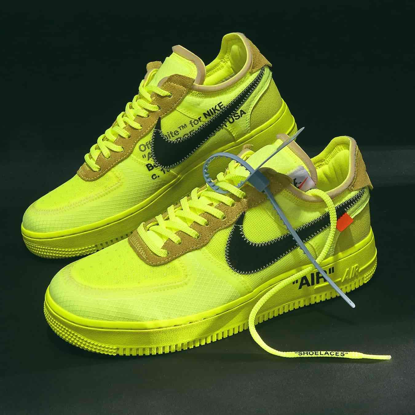 Nike x Virgil Abloh Air Force 1 Low Volt Black | Zapatos