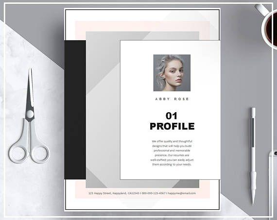 Pink Resume Template Modern Cv Template Creative Resume Template