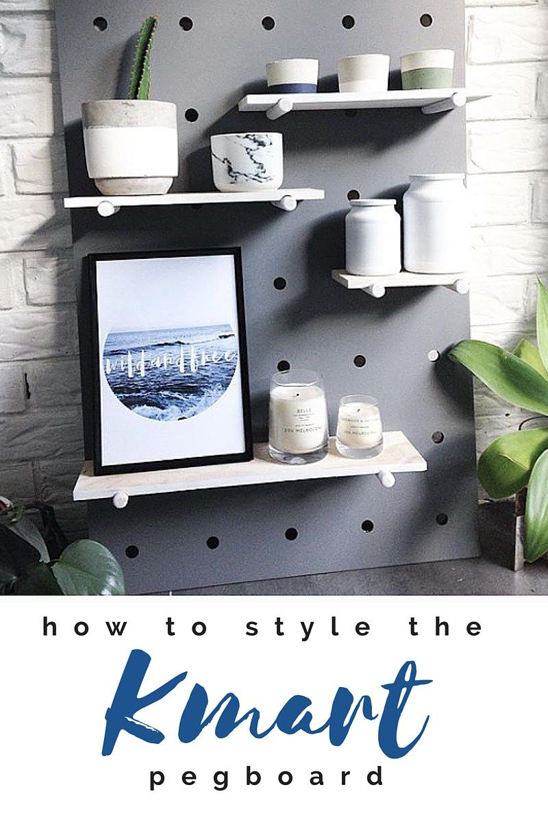 kmart pegboard how to style it random room inspiration diy rh pinterest com