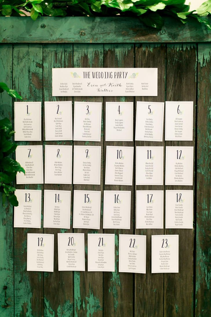 Rustic Escort Cards Wedding Escort Cards Table Numbers