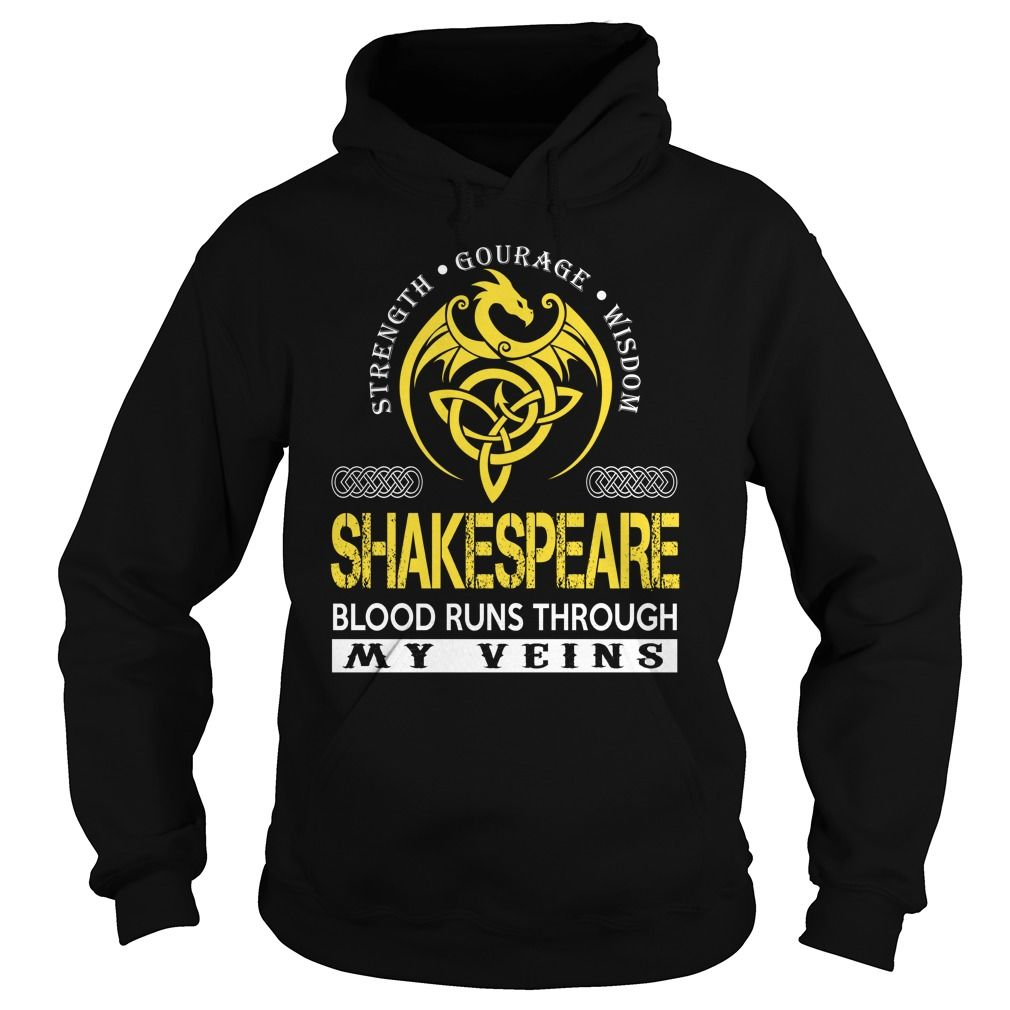 SHAKESPEARE Blood Runs Through My Veins (Dragon) - Last Name, Surname T-Shirt