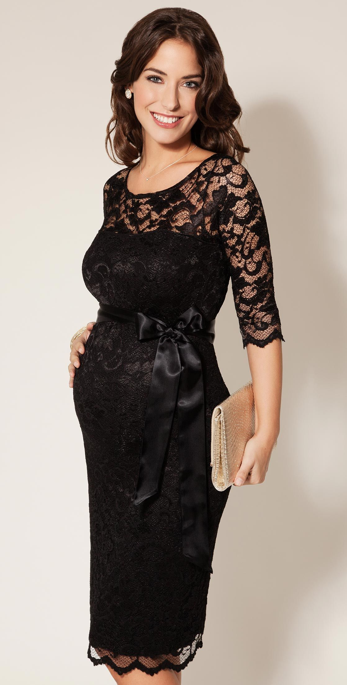 Maternity Dress Amelia Lace Short Black By Tiffany Rose Lbd Billionaire