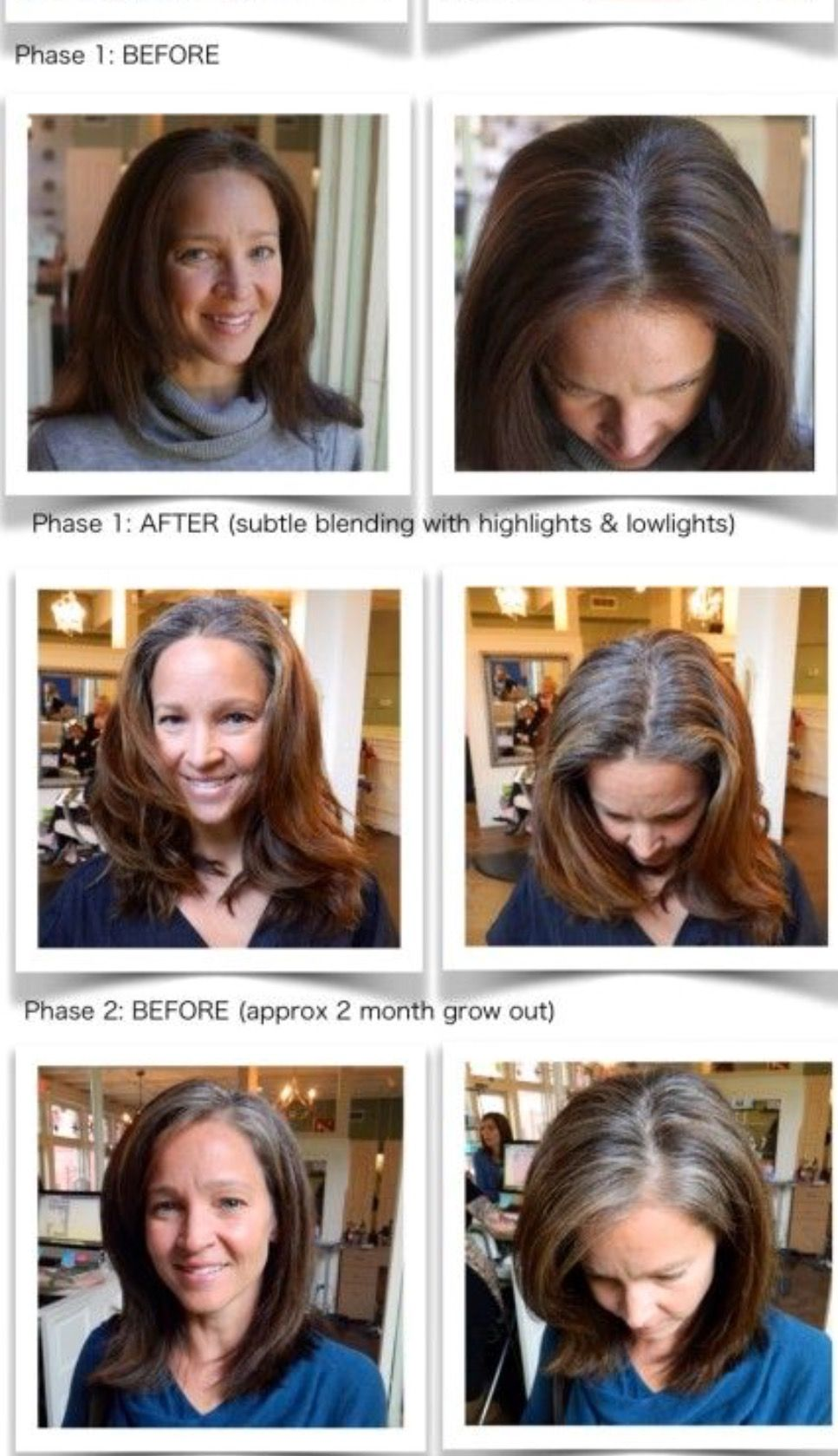 Pin By Julia Burley On Not Goin Grey Pinterest Hair Grow Out
