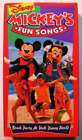 Mickeys Fun Songs Beach Party At Walt Disney World 1995 All About Loving Each Other Sing Along Songs Disney Musical Fun Songs