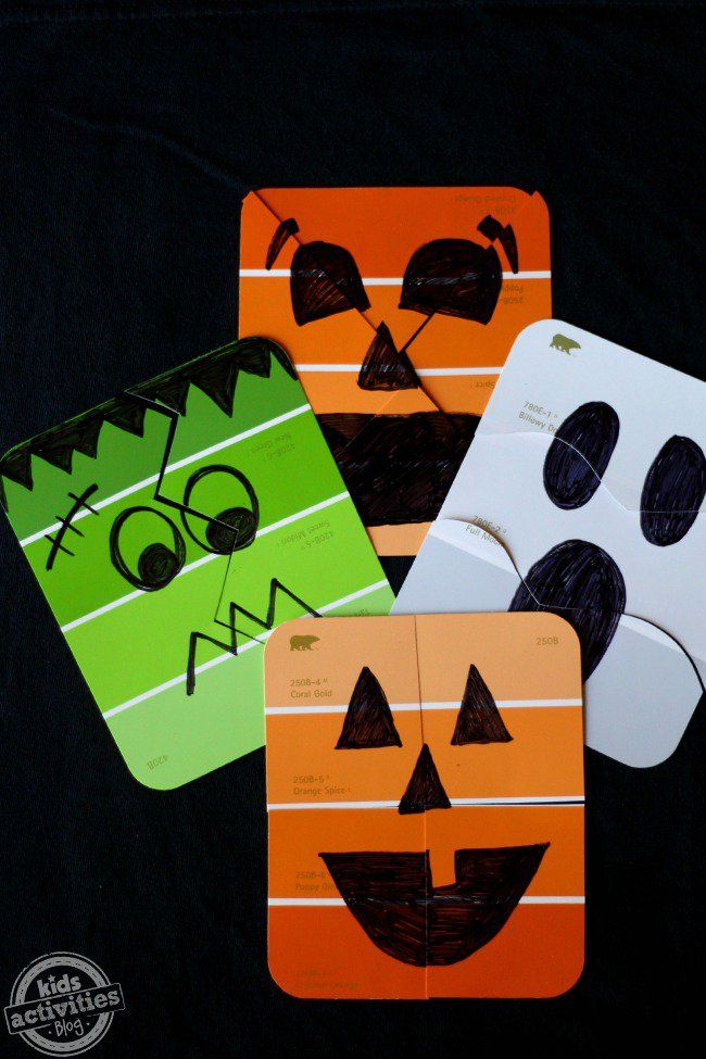 paint chip puzzles simple halloween games