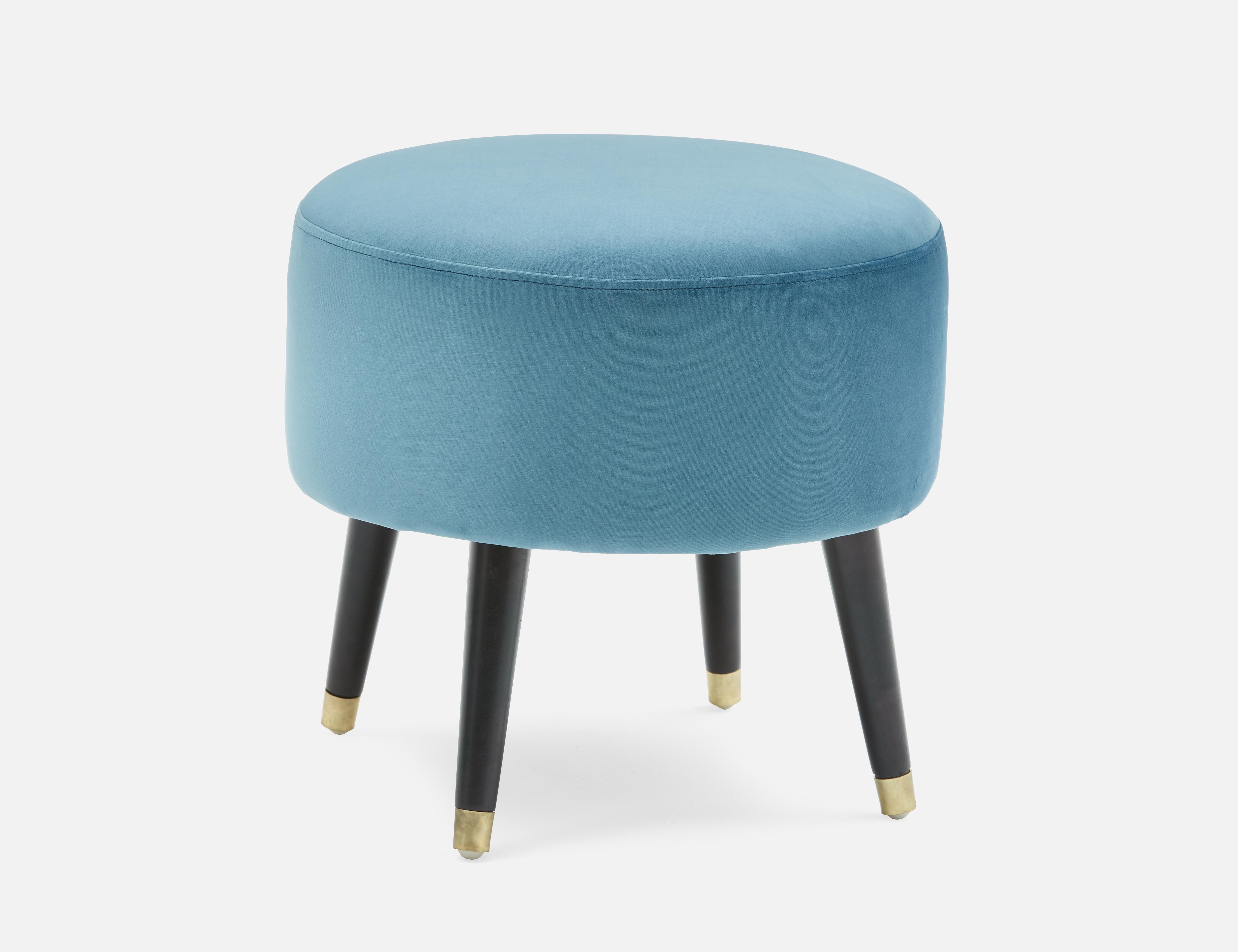 Brilliant Blue Ottoman Structube Livia In 2019 Blue Ottoman Inzonedesignstudio Interior Chair Design Inzonedesignstudiocom