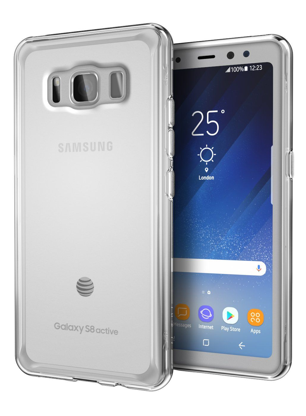 on sale 858f5 4d082 Galaxy S8 Active Case, Cimo [Grip] Premium Slim Protective Cover for ...
