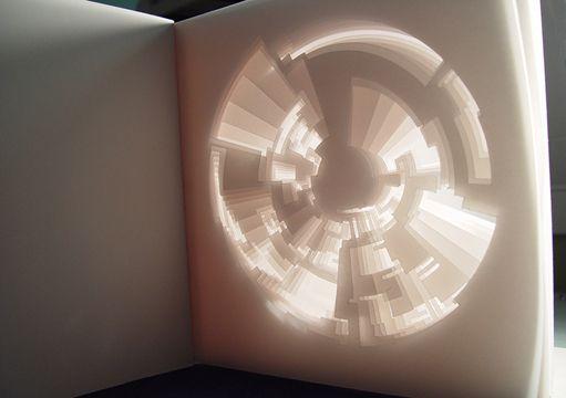 Light Book Matthew Shlian's Paper Sculptures  Paper Design  Pinterest  Paper