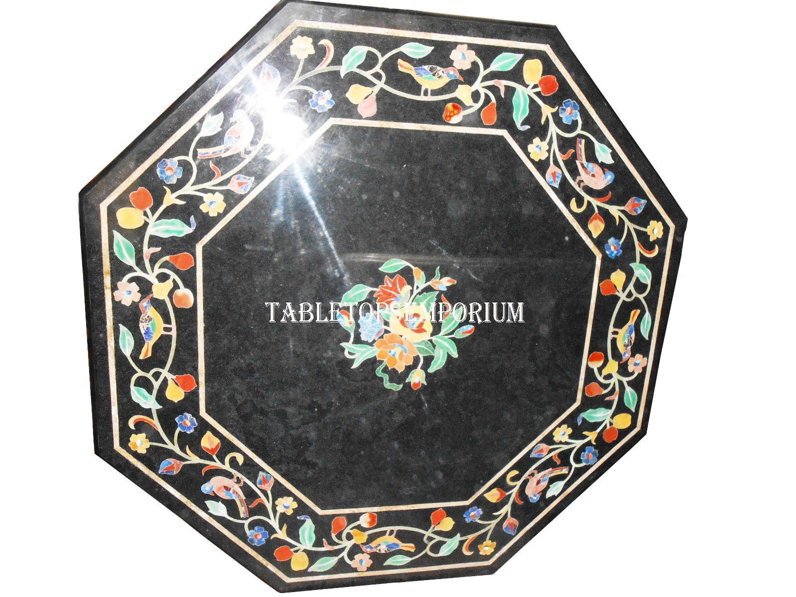"15"" Black Marble Coffee Center Table Top Floral Art Inlay Semi Precious Decor https://t.co/6lHl0tvmlN https://t.co/RyWauezxG4"