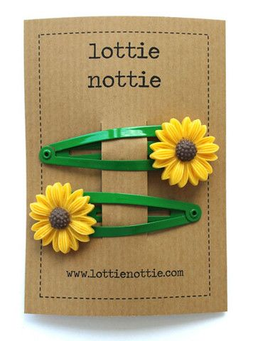 Lottie Nottie Sunflower Hair Clips - Dandy Lions Boutique #easter #sunflowers