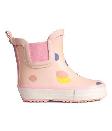 große sorten Schlussverkauf anerkannte Marken Gemusterte Gummistiefel | Hellrosa/Gepunktet | Kinder | H&M ...