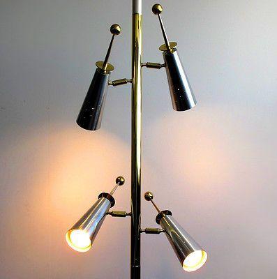 50s Stiffel Futura Pole Floor Lamp Mid Century Modern Arteluce Atomic Lightolier Mid Century Modern Floor Lamps Lamp Vintage Mid Century Lamps
