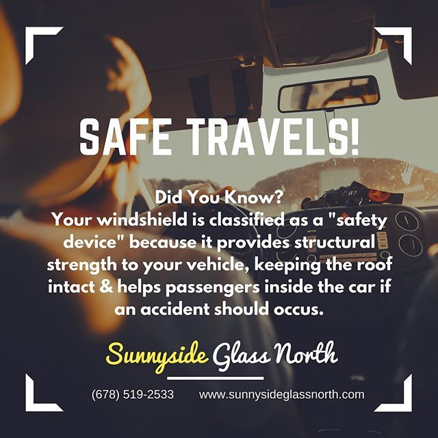 Windshield Replacement Quote Interesting Its Vacation Season Before You Hit The Road Call Sunnyside Glass .