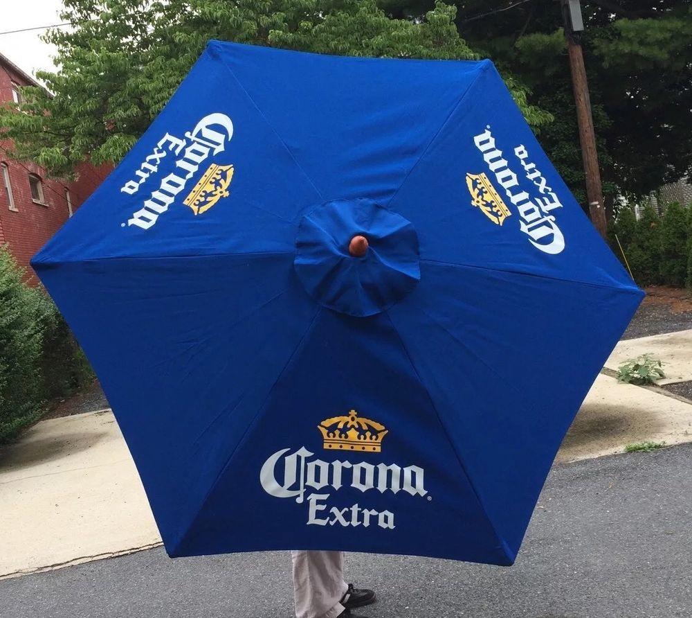 Corona Extra Beer Umbrella Pool Beach Patio Bar Pub Man Cave 7u0027 Tall New In  Box