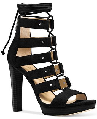 e7408500f6e MICHAEL Michael Kors Sofia Lace-Up Gladiator Sandals - Sandals - Shoes -  Macy s
