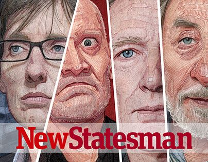 NewStatesman editorial illustrations. #behance #design