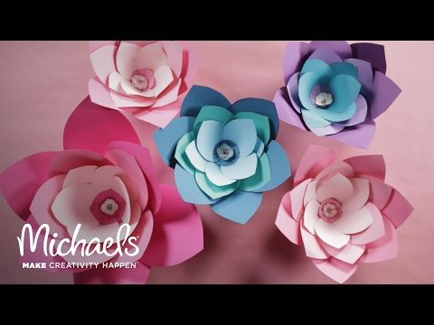 Tute and video from michaels to make oversized paper flowers tute and video from michaels to make oversized paper flowers mightylinksfo