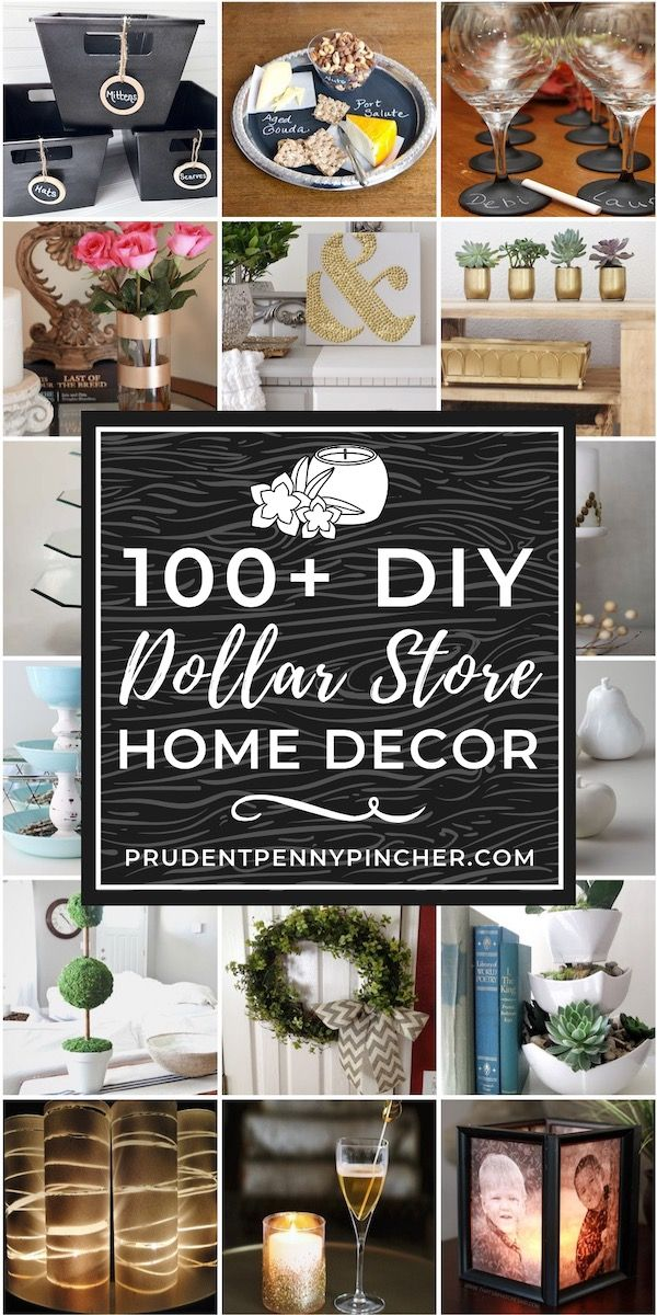 How to's : 100 Dollar Store DIY Home Decor Ideas #diy #dollarstore #diyhomedecor #homedecor #home