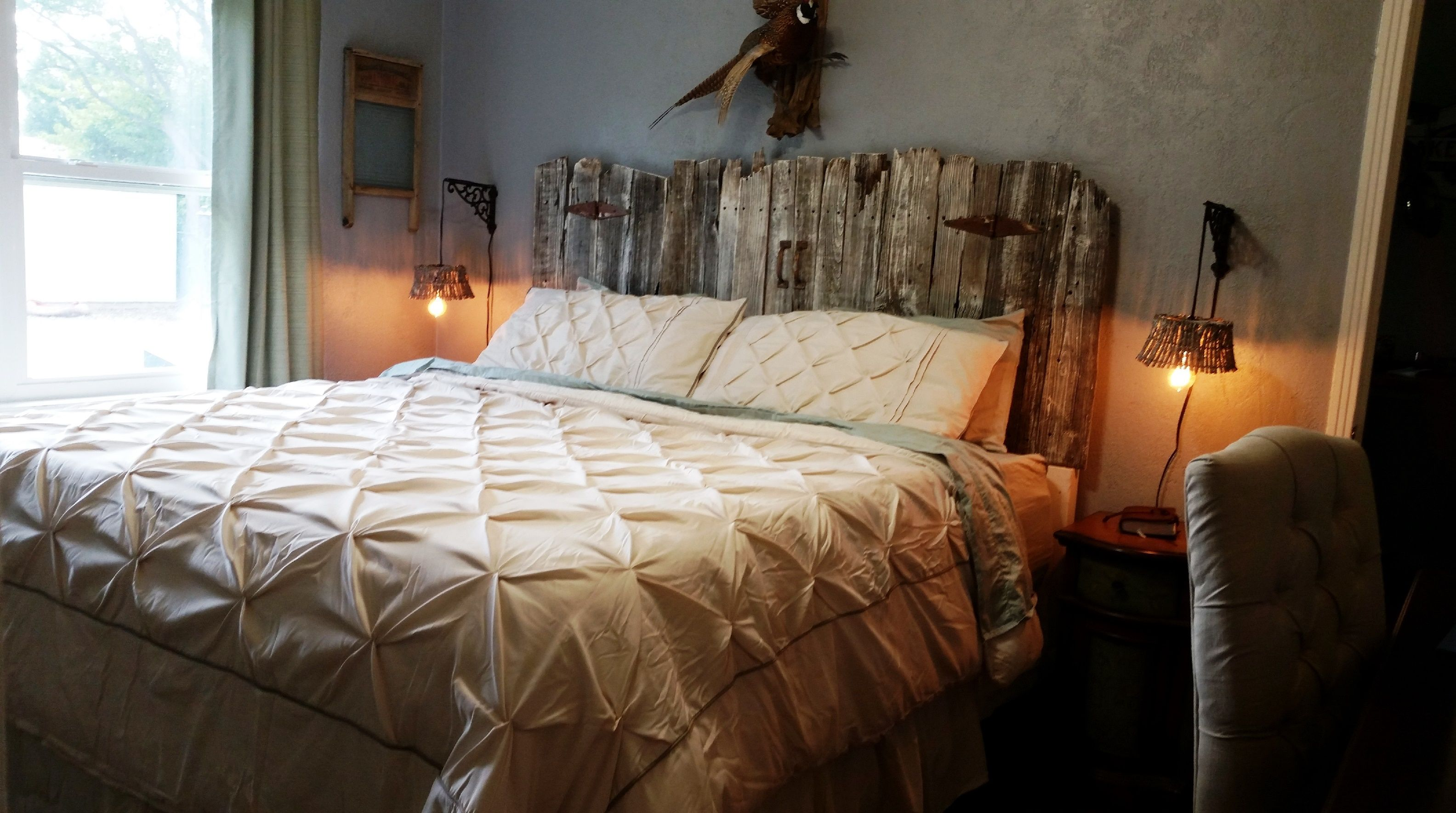 Vintage Headboards takes real barn wood and creates one of kind