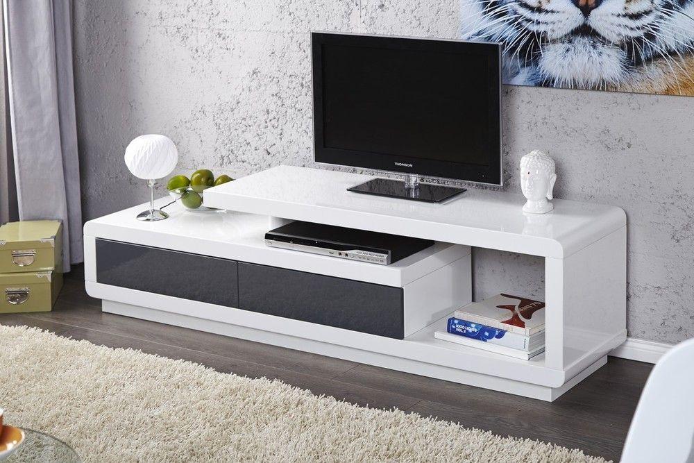 Computer En Tv Meubel.Black Bull Tv Meubel Alex Wit Antraciet Tv Unit Furniture Tv
