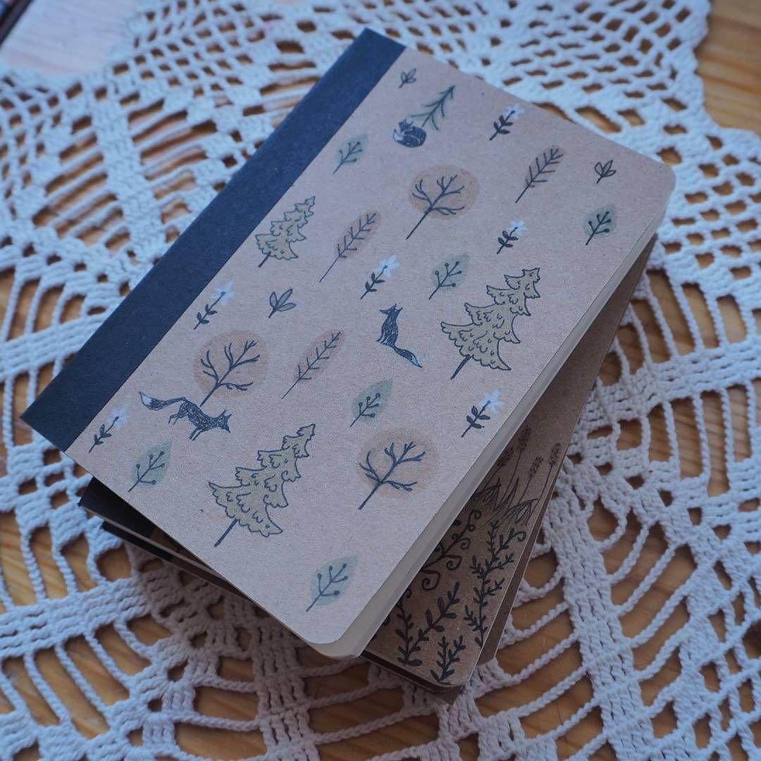 🌲🌲🌲 #notebook #illustration #drawing #fox #foxlovers #trees #woods #nature #natureinspired #kettu #piirtelyä #metsä #puut #muistikirja