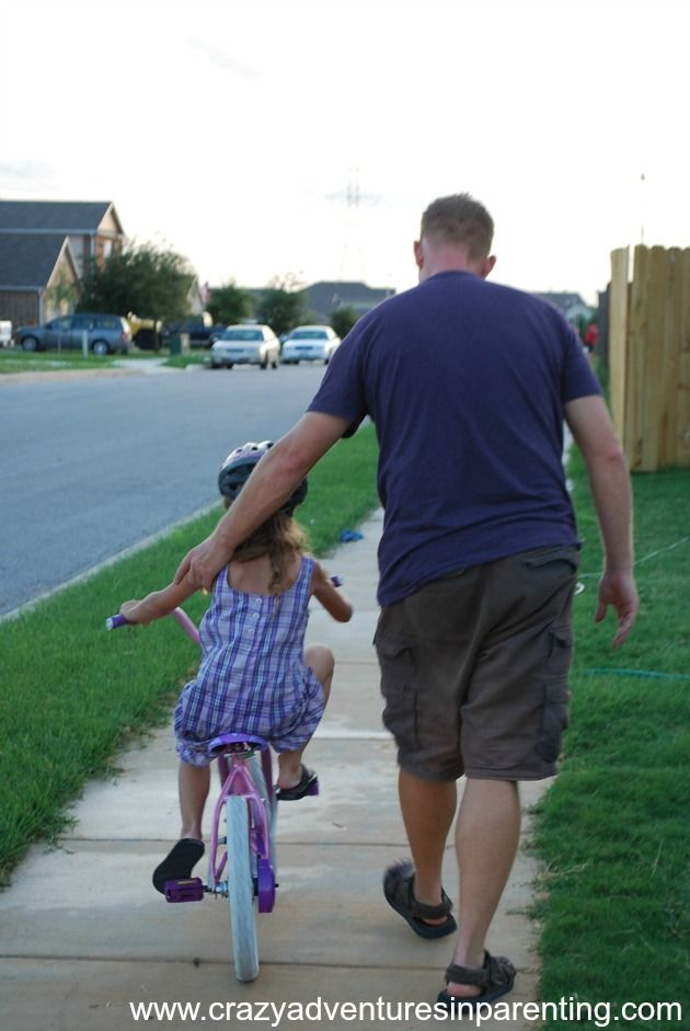 Daddy is always there for you. #cycling #inspiration