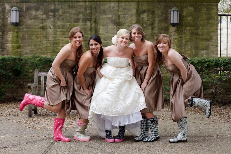 Wedding Photos Of Braidmaids In Rainboots Austin Photographer Spring Rain Boots Jpg