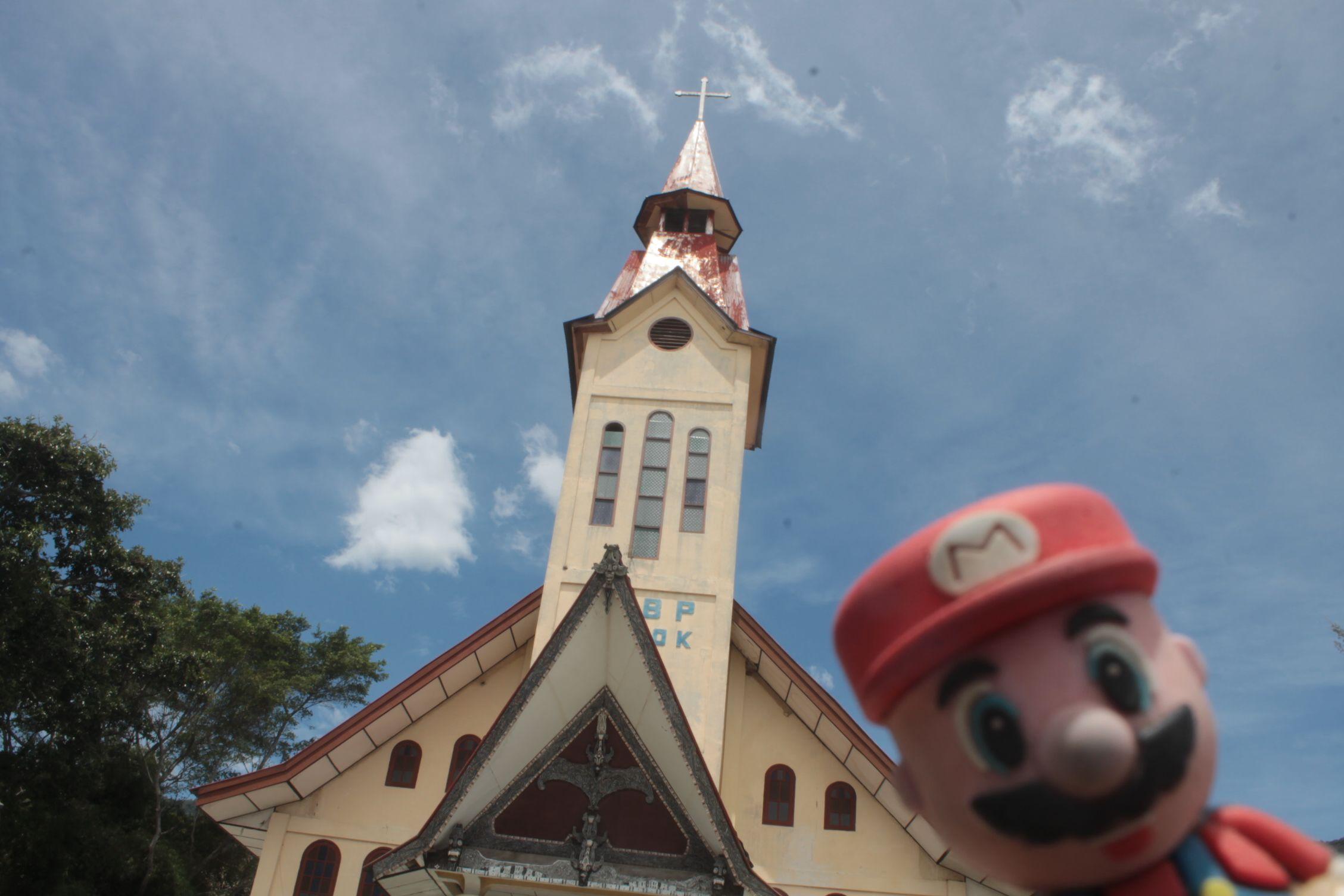 Iglesia Batak en el Lago Toba